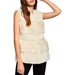 BCBGeneration Tiered Faux Fur Vest - NWT Small